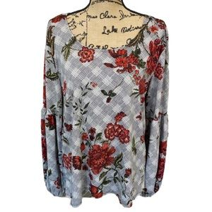 PASSPORTS Women's Floral Top Pullover Size XL